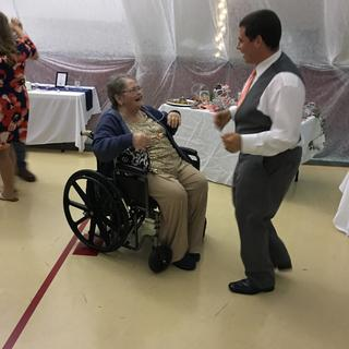 My mama dancing with my son the groom!