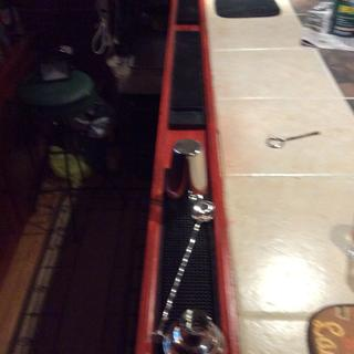 New drink rail with spill mats