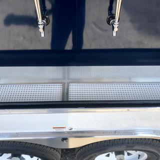 I incorporated 4 drains in a beer keg cooler trailer.