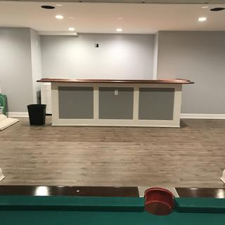 A new bar for there new finished basement