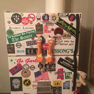 My beer fridge at home ! #beardedfoxbrewingco