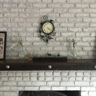 Updated old red brick fireplace so needed something to replace the old knobs.