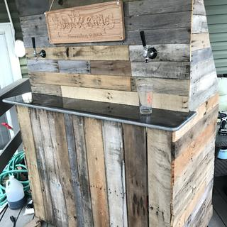 Our wedding bar!