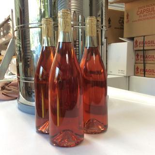 15 gallon batch of rose bottled at Flor D' Luna Winery.