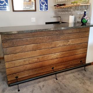 You Helped Make My New Bar!  Thank You! Foot Rail.
