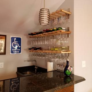 You Helped Make My New Bar!  Thank You! Glass Rack