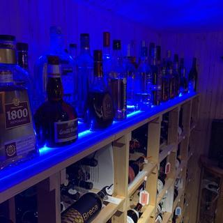 A little dark but it is a wine cellar!