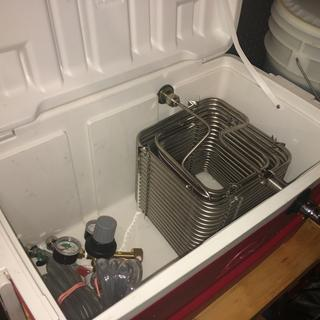 Square coil installed in my Igloo cooler. Ready for tailgating this weekend.