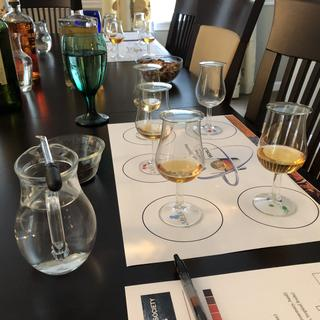 Very nice glasses and adding a touch of class to our recent tasting!