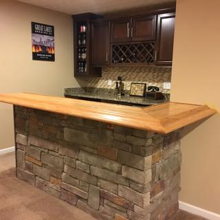 The bar rail was the final touch to make the bar complete
