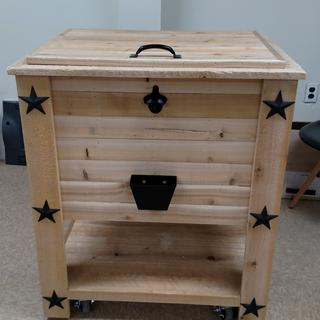 This is a deck cooler that I made for a fire company raffle.