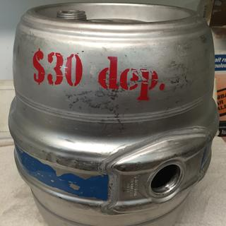 The keg as received.
