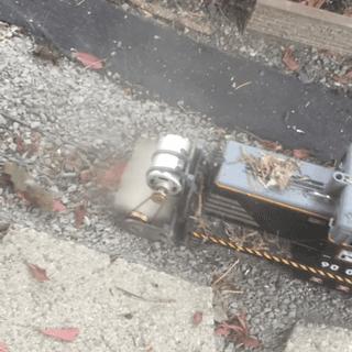 G-scale rail broom - clears debris from rails - no derailments