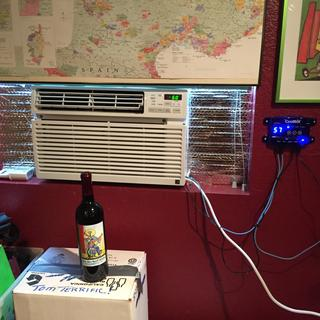 LG 6000 btu window ac unit w/ CoolBot in my wine cellar.