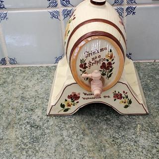 This barrel says Weilbach Weinachten 1949 Trink ma no ein Tröpfla --  Christmas Drink another drop