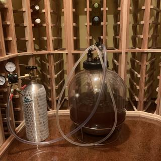Secondary/clarifying  fermentation 13 PSI
