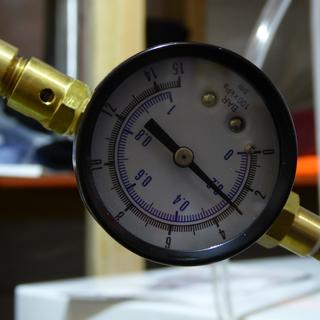 First pressurized primary fermentation. ~ 30 min to reach 3 psi after replacing blowoff hose 48 hrs.