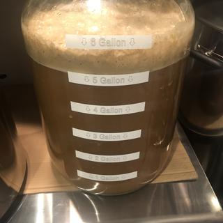 Just brewed this weekend! Its fermenting, that's a plus...