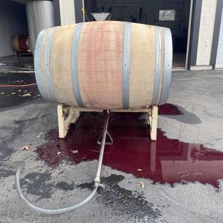 Wine barrel crime scene