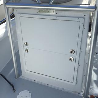 Custom center console door