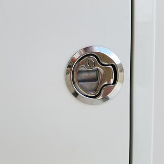 Close-up of galley latch