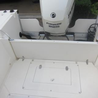 1/2 inch Starboard on transom for splash guards, 3/4 inch Starboard  on top of fold down transom