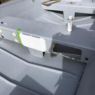 Easy to install yourself. It would be nice if Boat Outfitters included a template.