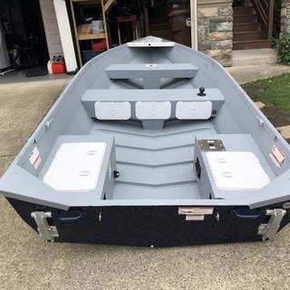 Built in tackle boxes are a great addition to my little 14' boat.