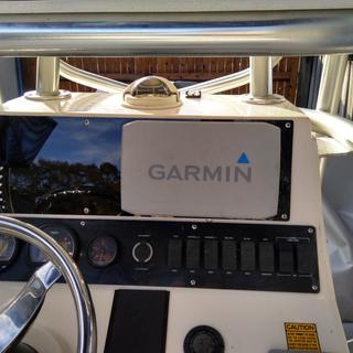 Here is the new dash custom made by boat outfitters with new chartplotter install