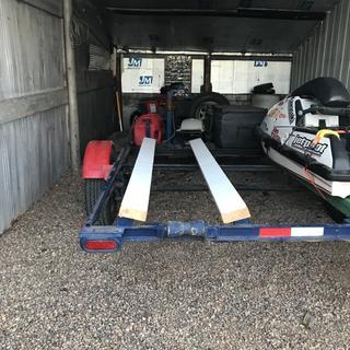 Jet ski trailer with the trailer bunk slides