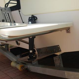 Ladder installed over trim tab motor