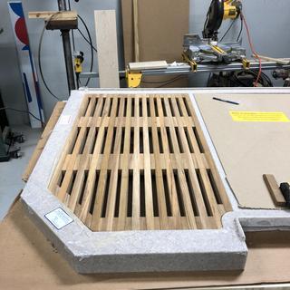 Teak wood shower platform