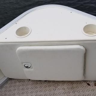The seafoam sealant was perfect match for seafoam King Starboard in making these tops for pontoon.