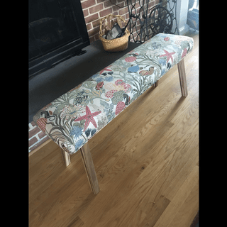 IKEA bench with upholstery seat