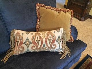 I made 2 of these pillows from one yard of fabric.