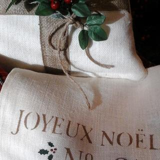 Le Jardin Holiday Pillows and Table Runners| Hand Painted designs by The Elegant Clutter