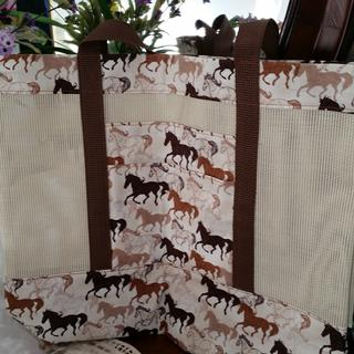 Tote bag for my horse crazy granddaughter.