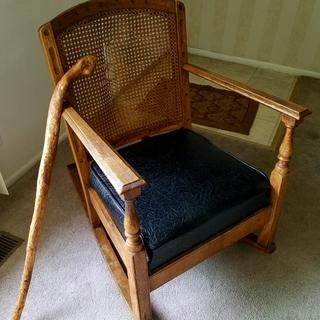 This rocking chair belonged to my wife's great-great grandfather.