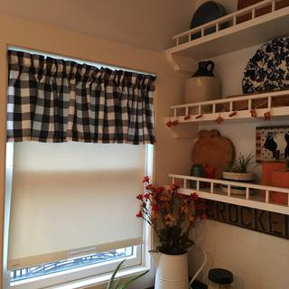 I made valances for my kitchen, dining and laundry rooms.