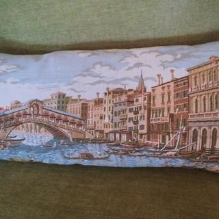 "10"" x 22"" down pillow form for making pillow from an Italian tapestry I bought in Italy."