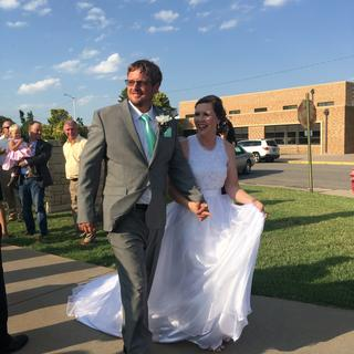 This bride may only get out of jeans and boots once in her life so it better be good!
