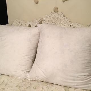 The pouf is amazing- these are without a pillow cover, but they are so great!