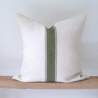 Ivory jute pillow cover by Woods and Shore via Etsy