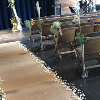 Used this burlap as an aisle runner for a rustic wedding.  It was fabulous for this!
