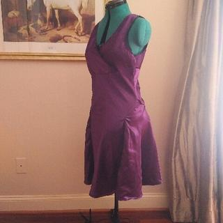 Plum Charmeuse 2019 bias cut nightgown - turned out very nice