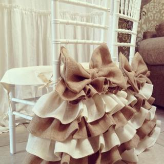 Ruffles chair skirt and bow