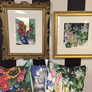 Pillows from painting prints