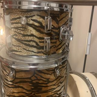 """Wrapped an old drum set.  Cool """"Tiger Beat!"""""""
