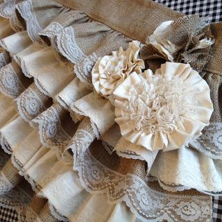 I add lace to every layer of the valance and the flowers and looks great.