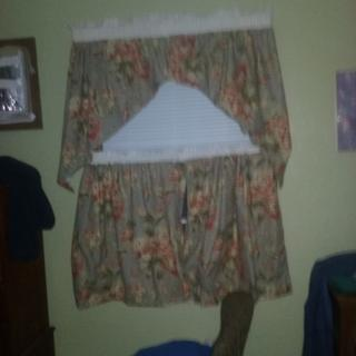 the old curtains I  used as a liner and added a little parish to them .